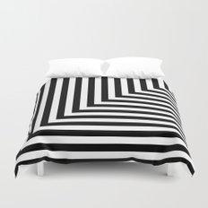 Black and White L Stripes // www.pencilmeinstationery.com Duvet Cover