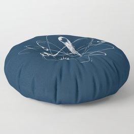 Atomic Meteors Floor Pillow