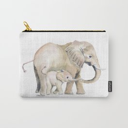 Mom and Baby Elephant 2 Carry-All Pouch