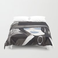 goth Duvet Covers featuring Goth Illustration by Debbie