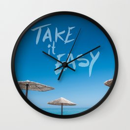Take it easy II Wall Clock