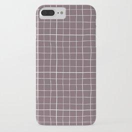 Dusty purple plaid iPhone Case