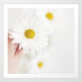 White. Art Print