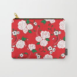 Muerta Roses Red Carry-All Pouch