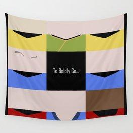 To Boldy Go - square - Star Trek The Original Series TOS - startrek Trektangle Kirk Spock Bones  Wall Tapestry