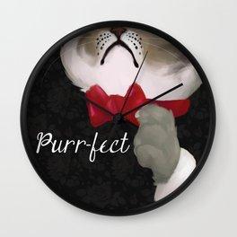 The Purr-fect Attire Wall Clock