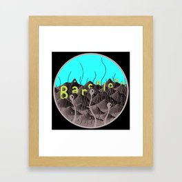 barcelonic mountains Framed Art Print
