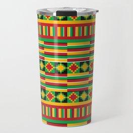 Kente pattern Travel Mug