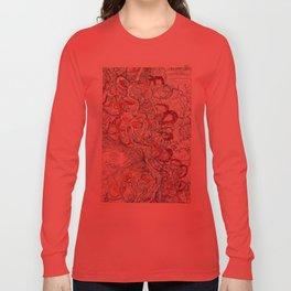Cool Vintage Map of Mississippi River - Sheet 6 Long Sleeve T-shirt