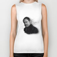 crowley Biker Tanks featuring Supernatural - Crowley The King of Hell ! by firatbilal