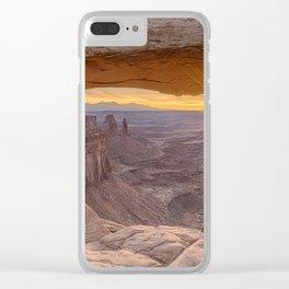 Sunrise at Mesa Arch Clear iPhone Case