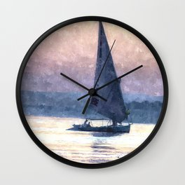 Felucca Water Colour Wall Clock