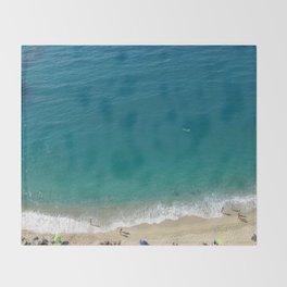 Italian Beach 1 Throw Blanket