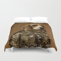beagle Duvet Covers featuring Beagle by Durro