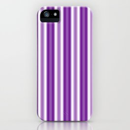 Purple and White Stripes iPhone Case