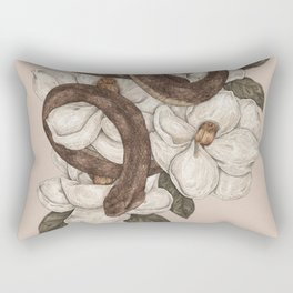 Snake and Magnolias Rectangular Pillow