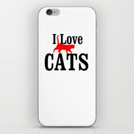 i LOVE CATS iPhone Skin