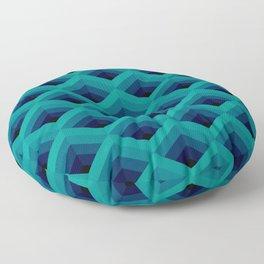 Dark Teal Diamond Mesh Floor Pillow