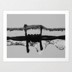 frozen barbed wire II Art Print