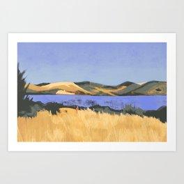 Lake in Marin County Art Print