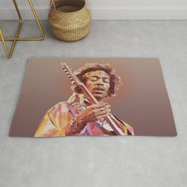 Jimi Hendrix Guitar God Rug