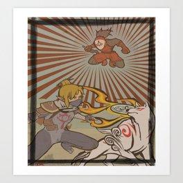 Okami X Breath of the Wild Art Print