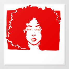 Red Curly Girl Canvas Print