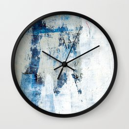 Blue Walls Wall Clock