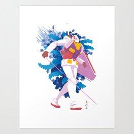 Amuro Ray's RX-78-2 Gundam Art Print