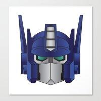 optimus prime Canvas Prints featuring Optimus Prime by Tombst0ne