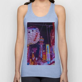 Electric Postcard from Osaka Unisex Tank Top