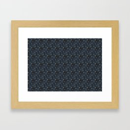 indigo and olive green Framed Art Print
