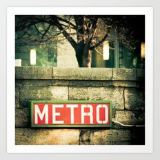 METRO SIGN, PLACE DE LA CONCORDE Art Print
