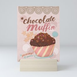 chocolate muffin baking cupcake yummy foodie gift Mini Art Print