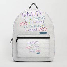 Humility Backpack