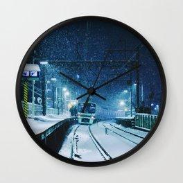 Shimotakaido Station Snow Wall Clock