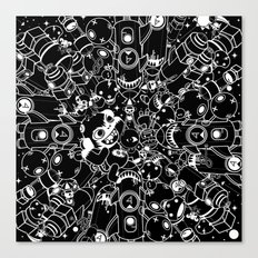 For Good For Evil - Black on White Canvas Print
