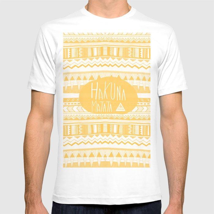 c9e74881 Hakuna Matata Yellow T-shirt by vasarenar | Society6