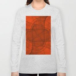 Fractal Eternal Rounded Cross in Red Long Sleeve T-shirt