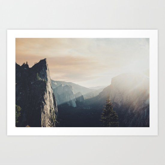 Up in the cliffs, down on my mind  Art Print