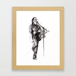 Brian Molko Framed Art Print