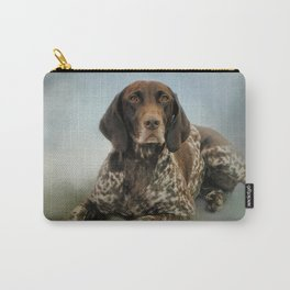 Waiting For A Cue - German Shorthaired Pointer Carry-All Pouch