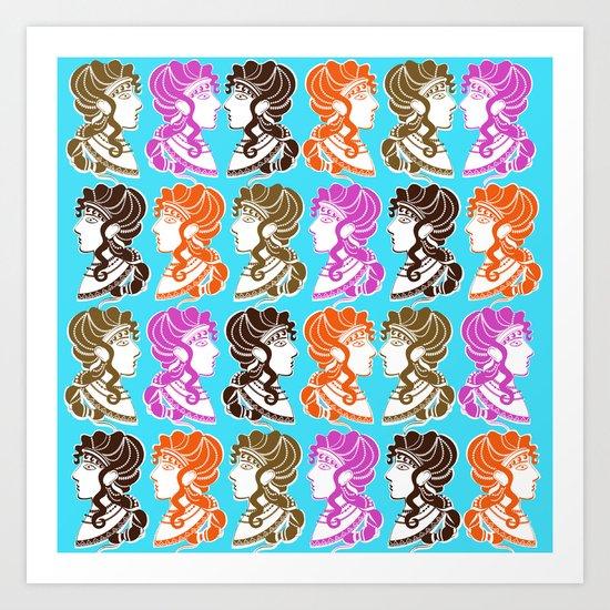 Minoan Ladies II Art Print