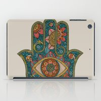 hamsa iPad Cases featuring Hamsa by Valentina Harper