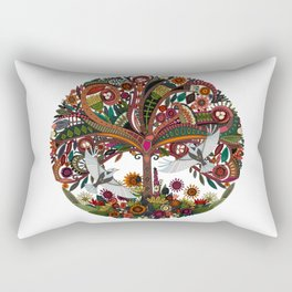 tree of life white Rectangular Pillow
