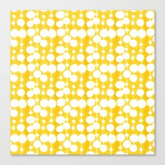 Big Fat Drops (yellow) Canvas Print