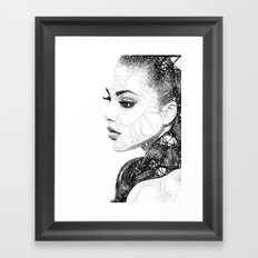 Geometric woman Framed Art Print