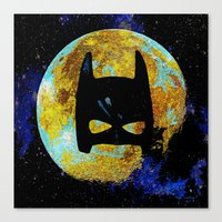 bat Canvas Prints featuring BAT by Saundra Myles
