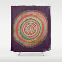 geode Shower Curtains featuring Oh My Geode by Amy Moen