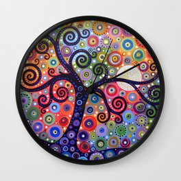 Abstract Art Landscape Original Painting ... The Coming Day Wall Clock